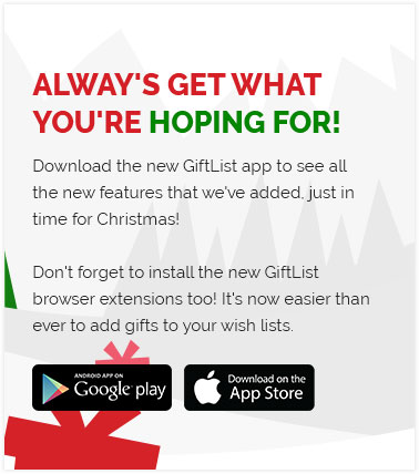 Download and share your giftlist