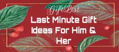 Last Minute Gift Ideas for HIM and HER