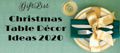 Christmas Table Décor ideas 2020
